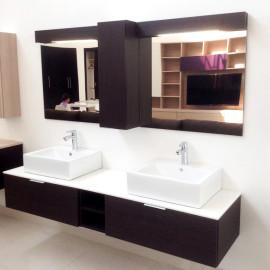 Mueble doble para baño moderno
