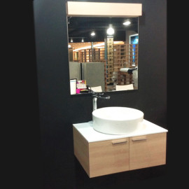 Gabinete para baño individual en madera